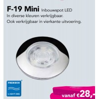 F-19 Mini inbouwspot High PowerLED